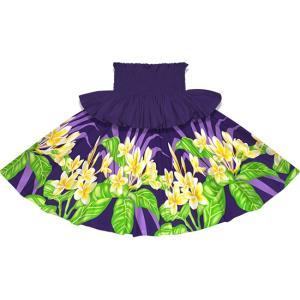 フリルパウスカート 紫のパウスカート プルメリア柄 Sofrill-2745PP フラダンス 衣装|pauskirt