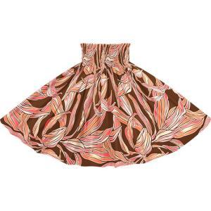 茶色のパウスカート ティリーフ柄 2749BR フラダンス 衣装|pauskirt