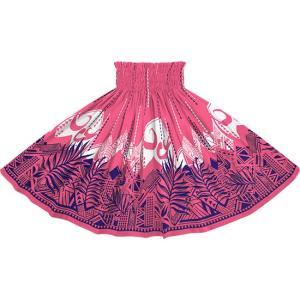 ピンクのパウスカート ヤシ・オヘカパラ柄 spau-2750Pi|pauskirt