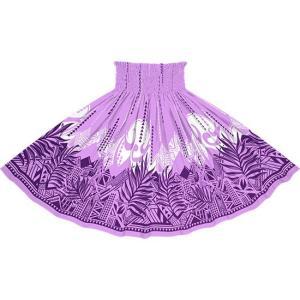 紫のパウスカート ヤシ・オヘカパラ柄 spau-2750PP|pauskirt