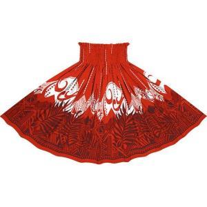 赤のパウスカート ヤシ・オヘカパラ柄 spau-2750RD|pauskirt