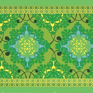 緑のハワイアンファブリック ポリコットン キルト柄 fab-2753GN 【4ヤードまでメール便可】 pauskirt