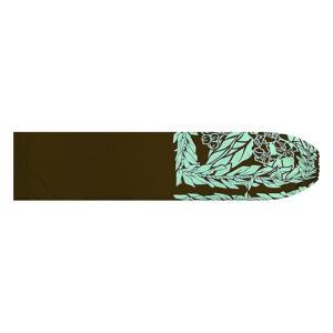 茶色のパウスカートケース クラウンフラワー・ティリーフレイ柄 pcase-2754BR 【メール便可】|pauskirt