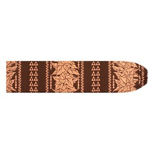 茶色のパウスカートケース ククイ・カヒコボーダー柄 pcase-2758BR 【メール便可】|pauskirt