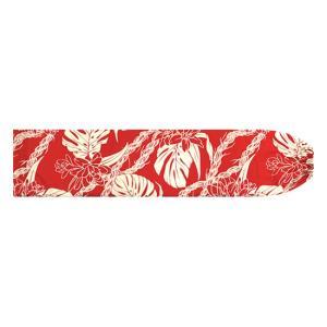 赤のパウスカートケース モンステラ・ピカケ・カウナオアレイ柄 pcase-2759RD 【メール便可】|pauskirt