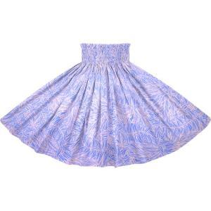 紫とピンクベージュのパウスカート ティリーフ柄 2764PPPi フラダンス 衣装