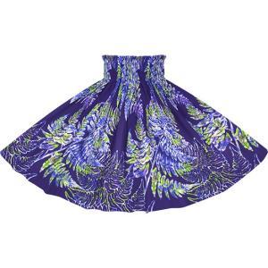 青のパウスカート パラパライ柄 2768BL フラダンス 衣装
