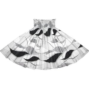 白のパウスカート カヒコ柄 spau-2772WH フラダンス 衣装