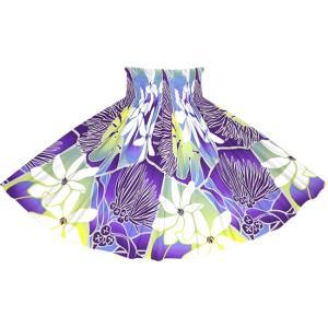 紫のパウスカート ティアレ・レフア・グラデーション柄 spau-2773PPPP フラダンス 衣装