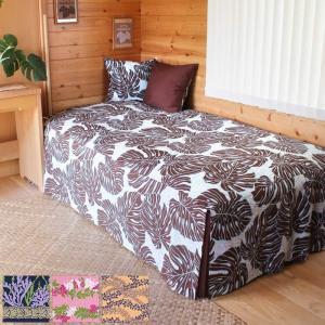 ベッドカバー スプレッドタイプ シングル ハワイアン柄 lvng-cover-bed|pauskirt