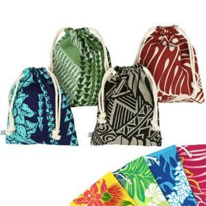 ハワイアン巾着 ランダム4枚セット fsit-pouch-drawstring 【メール便可】|pauskirt