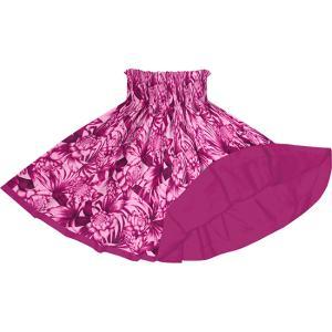 リバーシブルパウスカート ピンクのトーチジンジャー・ヤシ柄 フューシャのリバーシブル rvpau-2746Pi|pauskirt