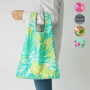 折りたたみ エコバッグ パイピング ハワイアン柄 コンパクト ショッピングバッグ fsit-bag-eco 【メール便可】|pauskirt
