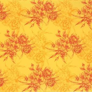 黄色のハワイアンファブリック プロテア・ハイビスカス柄 fab-2806YW 【4ヤードまでメール便可】 pauskirt