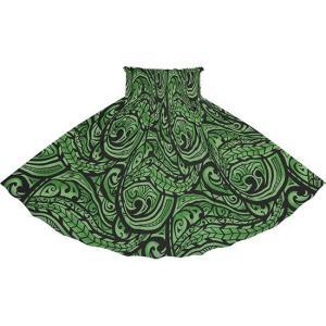 緑のパウスカート カヒコ・グラデーション柄 spau-2830GN|pauskirt