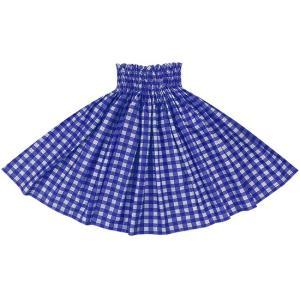 青色のパウスカート パラカ柄 2028BL フラダンス 衣装|pauskirt