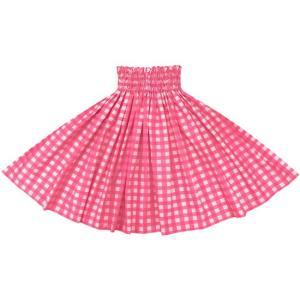 ピンクのパウスカート パラカ柄 2028Pi フラダンス 衣装|pauskirt