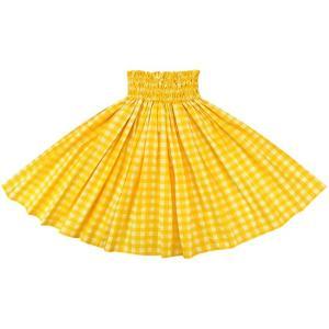 黄色のパウスカート パラカ柄 2028YW フラダンス 衣装|pauskirt