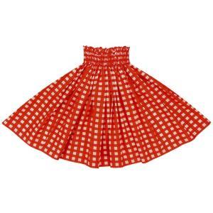 赤のパウスカート パラカ柄 2028RD フラダンス 衣装|pauskirt