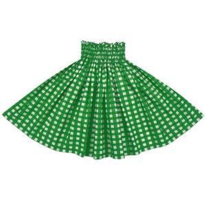 緑のパウスカート パラカ柄 2028GN フラダンス 衣装|pauskirt