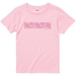 Tシャツ レディース 半袖 ピンク グラデーション ハイビスカス フラダンス tsht-print 【メール便可】 pauskirt