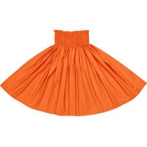オレンジのパウスカート 無地 muji_orange-M25 フラダンス 衣装|pauskirt