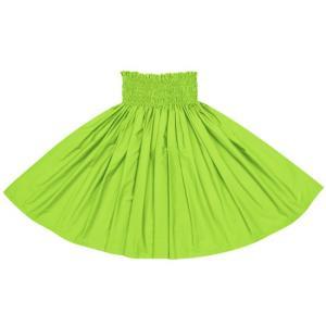 イエローグリーンのパウスカート 無地 muji_yellowgreen-c053 フラダンス 衣装 pauskirt