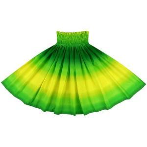 黄色と緑のパウスカート グラデーション柄 2270YWGN フラダンス 衣装|pauskirt