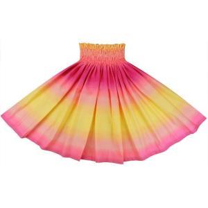 黄色とピンクのパウスカート グラデーション柄 2270YWPi フラダンス 衣装|pauskirt