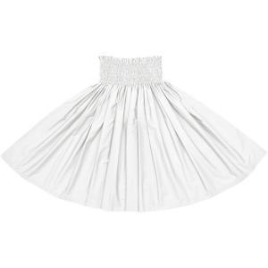 スノーホワイトのパウスカート 無地 muji_snowwhite フラダンス 衣装|pauskirt
