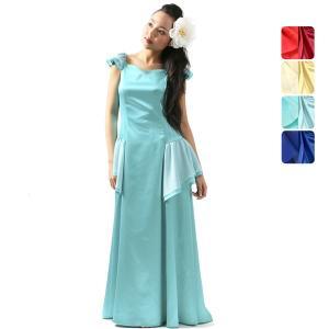 【送料無料】サテンスリーブ フラドレス 色とサイズが選べる 31025ds|pauskirt