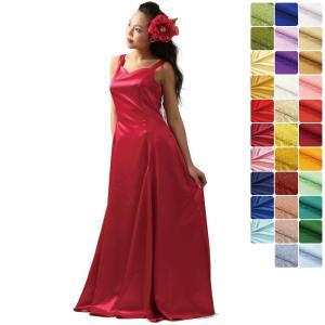 【送料無料】スリーブレス フラドレス 色とサイズが選べる サテン8色 ジャガード6色 シャンタン8色 31027ds|pauskirt