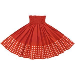 【送料無料】 ポエポエパウスカート 赤の無地 パラカ柄 SopoepoeL-2028RD-crimson フラダンス 衣装 pauskirt