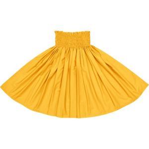 ゴールドのパウスカート 無地 muji_gold-c126 フラダンス 衣装|pauskirt