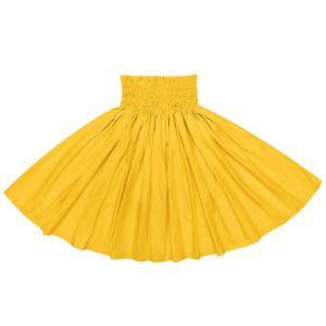 黄色のコットンパウスカート 綿100% spau-ctc7500-26 フラダンス 衣装|pauskirt