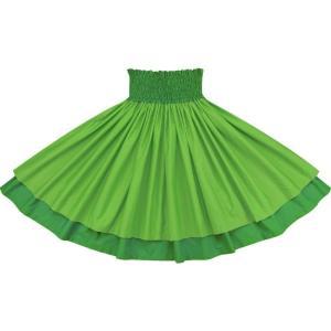 【送料無料】 ダブルパウスカート マラカイトグリーンの無地とビリジアンの無地-c153-c257 フラダンス 衣装|pauskirt