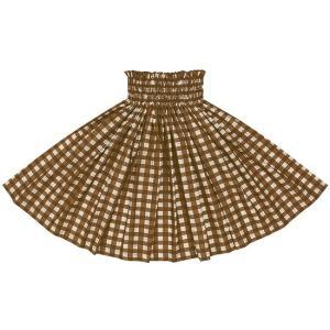 茶のパウスカート パラカ柄 2028BR フラダンス 衣装|pauskirt