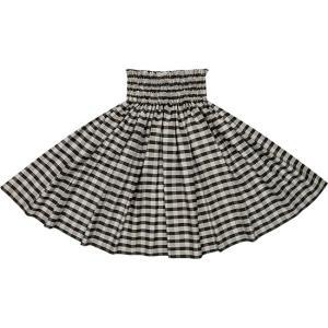 黒のコットンパウスカート パラカ柄 綿100% ctt-palaka フラダンス 衣装|pauskirt