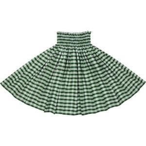 緑のコットンパウスカート パラカ柄 綿100% ctt-palaka フラダンス 衣装|pauskirt