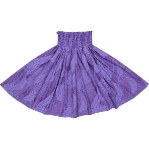 紫のパウスカート モンステラ総柄 2022PPPP 75cm 4本ゴム 三つ折り仕上げ【既製品】☆|pauskirt