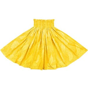 黄色のパウスカート モンステラ総柄 spau-2022YW|pauskirt