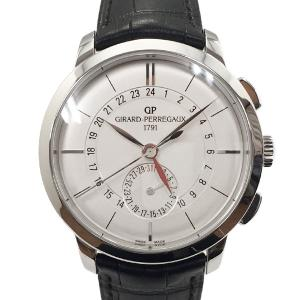 【中古】ジラールペルゴ 1966 デュアルタイム レザー 腕時計 49544-11-132-BB60...