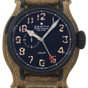 ゼニス パイロット アエロネフ タイプ20 GMT 腕時計...