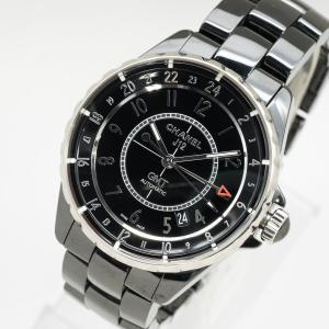 質イコー [シャネル] CHANEL 腕時計 J12 GMT セラミック ブラック H3102 メン...