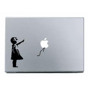 MacBook 対応 アートステッカー - Banksy Girl - 【並行輸入品】|pawpawshop