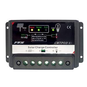 デイーユーモ 10A PWMスマートソーラーコントローラ、LCDディスプレイ付き12V/24V入力 pawpawshop