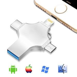 4?in 1?USB 3.0?Iphoneフラッシュドライブメモリスティック、親指ペンドライブOTGジャンプwith LightningタイプC Mi|pawpawshop