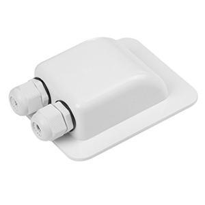ソーラーケーブルボックス 防水箱 耐候性 ABS ケーブルコネクタ すべてのケーブルタイプ Rv、キャンピングカー、ボート用 (Color : Whi pawpawshop