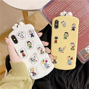 スヌーピー 携帯ケース Snoopy iPhoneケース 携帯カバー かわいい TPU保護カバー 衝撃吸収 (色 : Yellow サイズ : X) pawpawshop