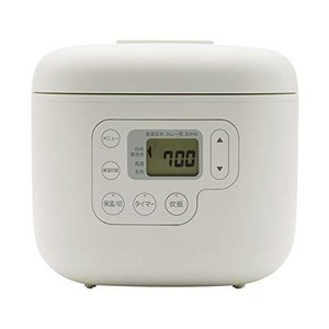 無印良品 しゃもじ置き付き炊飯器・3合 型番:MJ-RC3A2 82875706 ホワイト|pawpawshop